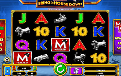 Monopoly Bring the House Down Mobile Slot Machine