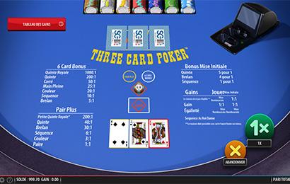 Poker trois cartes
